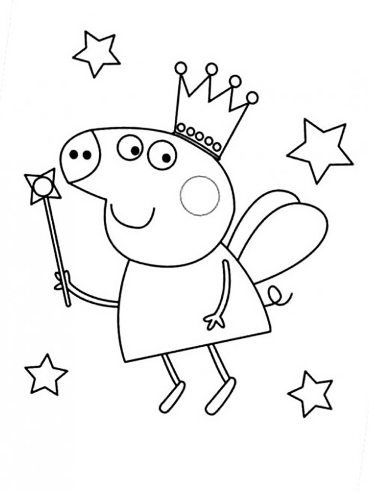 Днем рождения, картинки свинки пеппы для раскрашивания