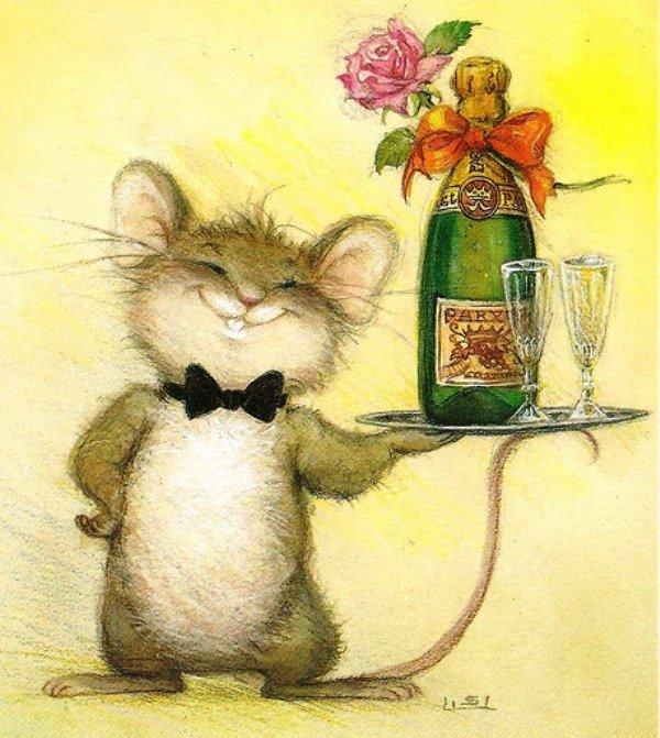 Бабушки рождением, поздравления картинки мышки