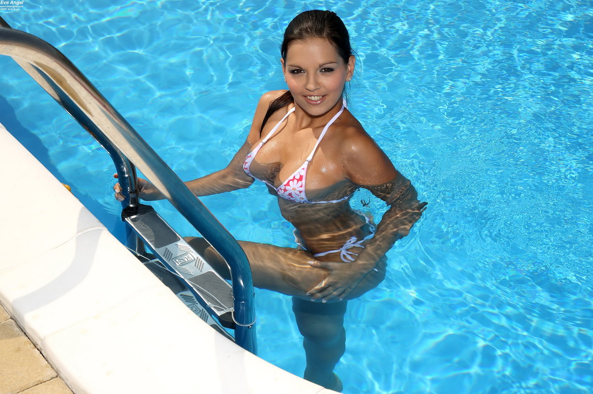 Girl at pool picture