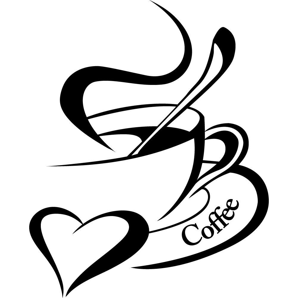 Рисунок с кофейной чашкой, рождения открытки мужчине