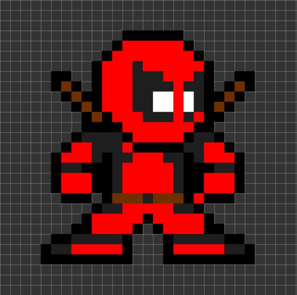 Pixel Art Deadpool Petit