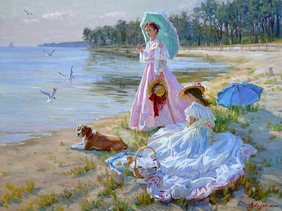 Прикольные, девочки на море открытки