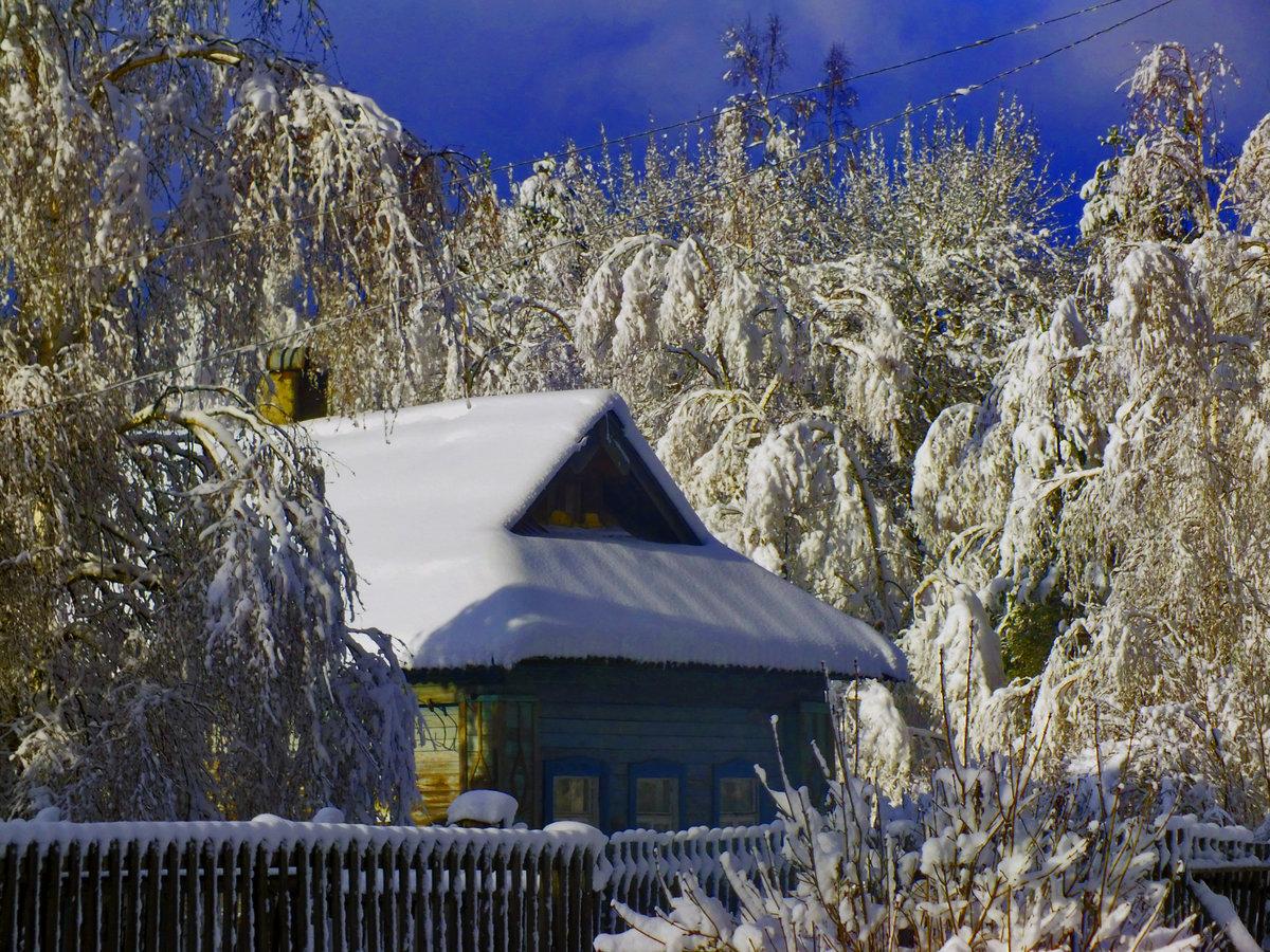 есть фото зимних деревенских домов россии проходила