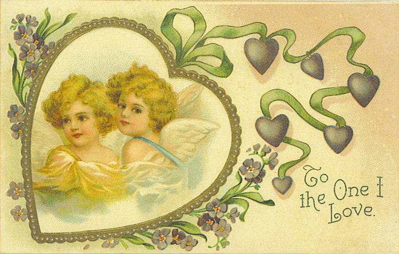 Старые открытки по любовь