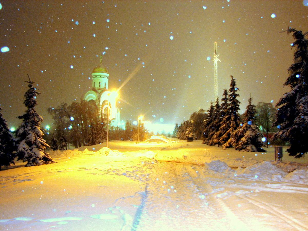 картинки город зима ночь место