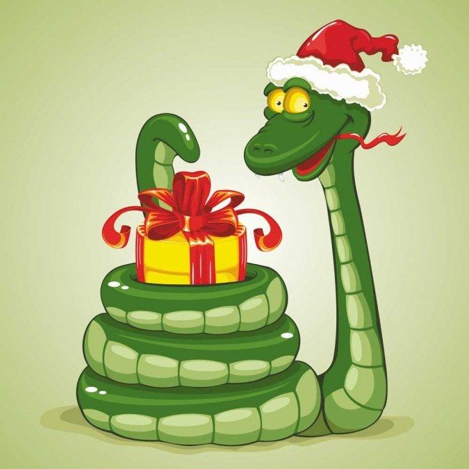 Открытки год змея