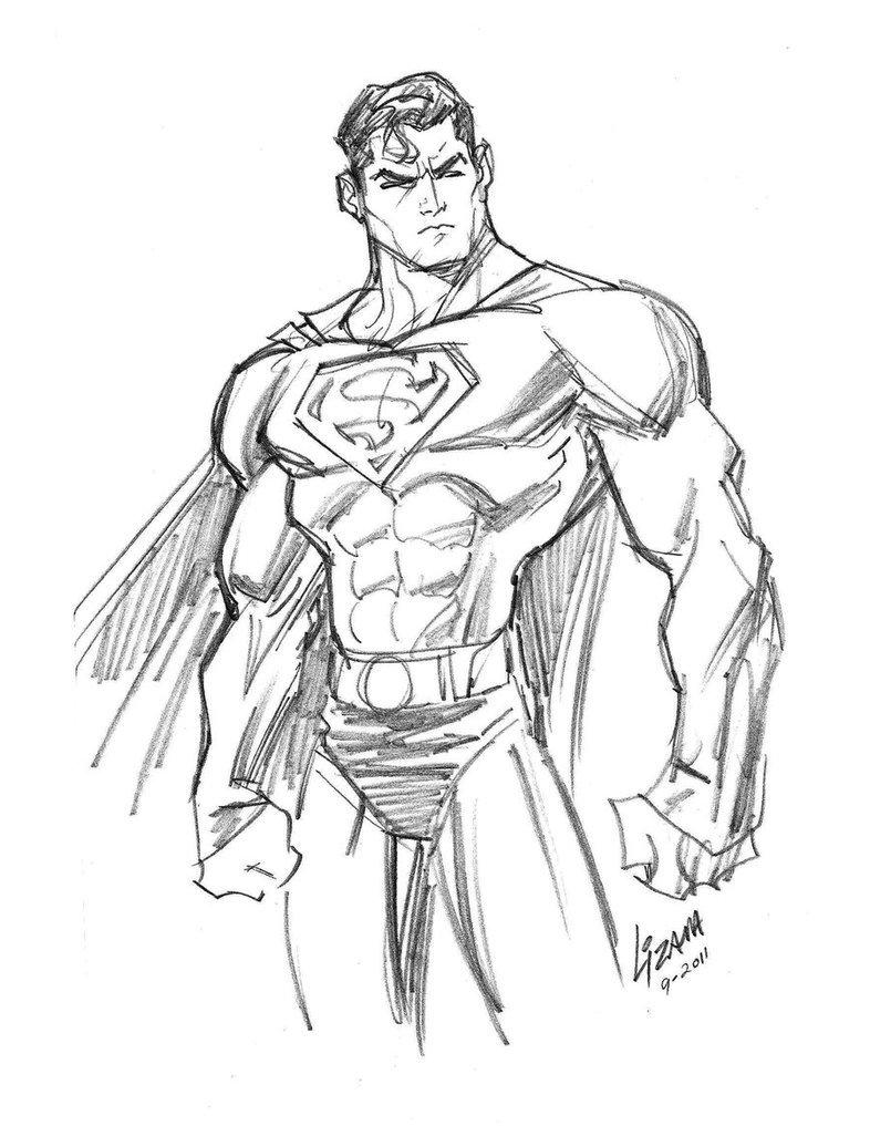 портнова великая рисунок супермена карандашом пирог халвой получается