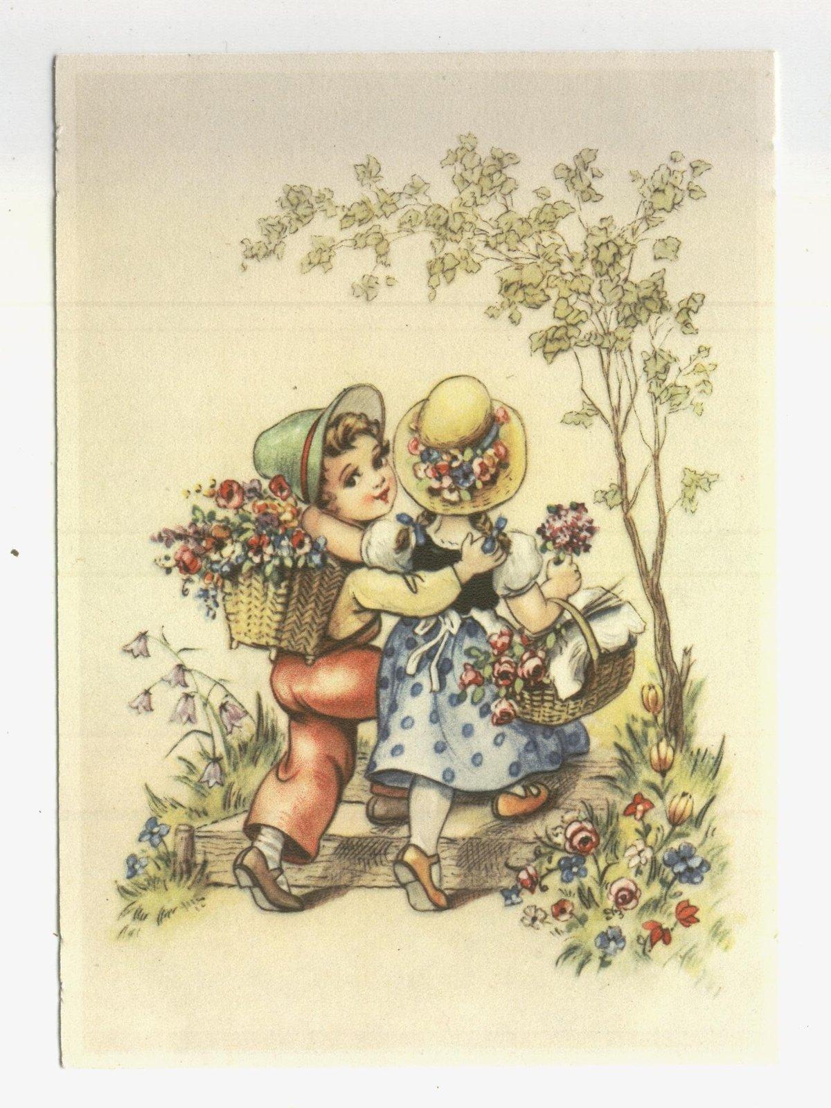 С 8 марта немецкие открытки