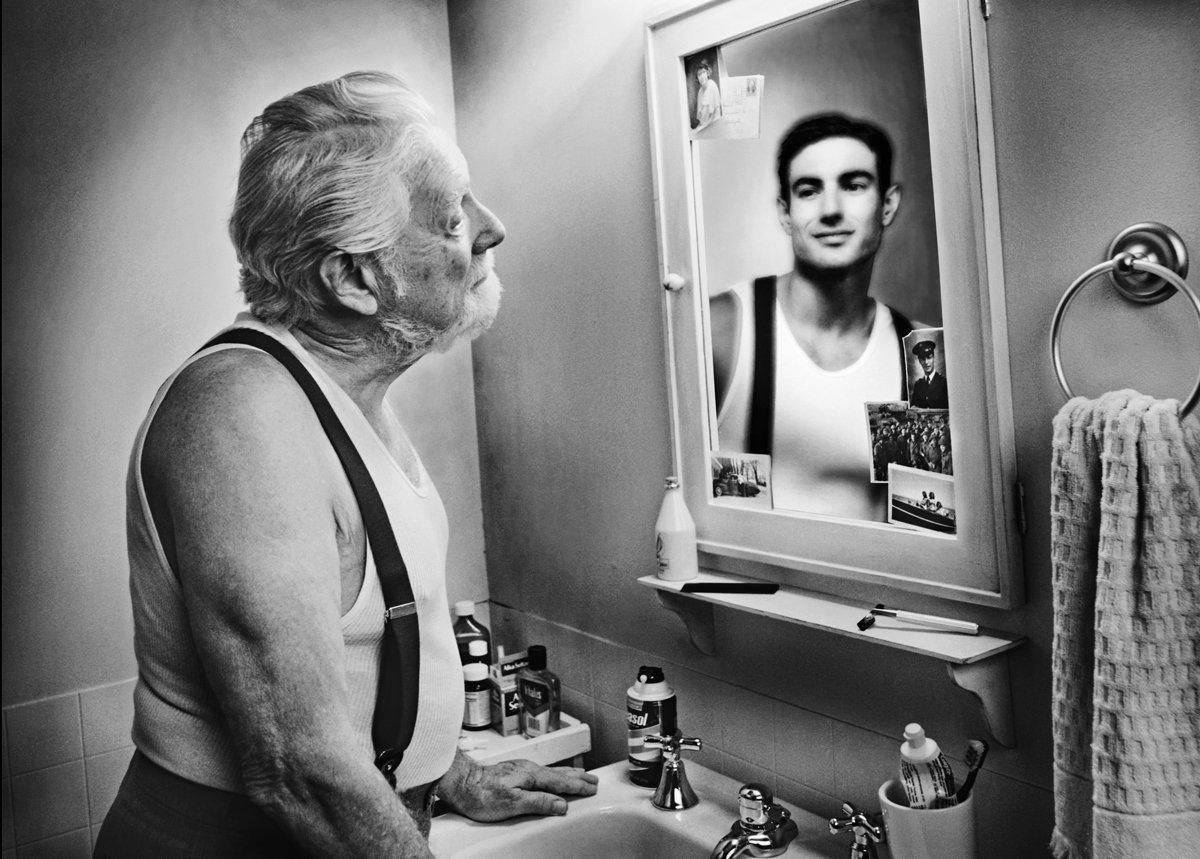 Смешные картинки про зеркало, открытка