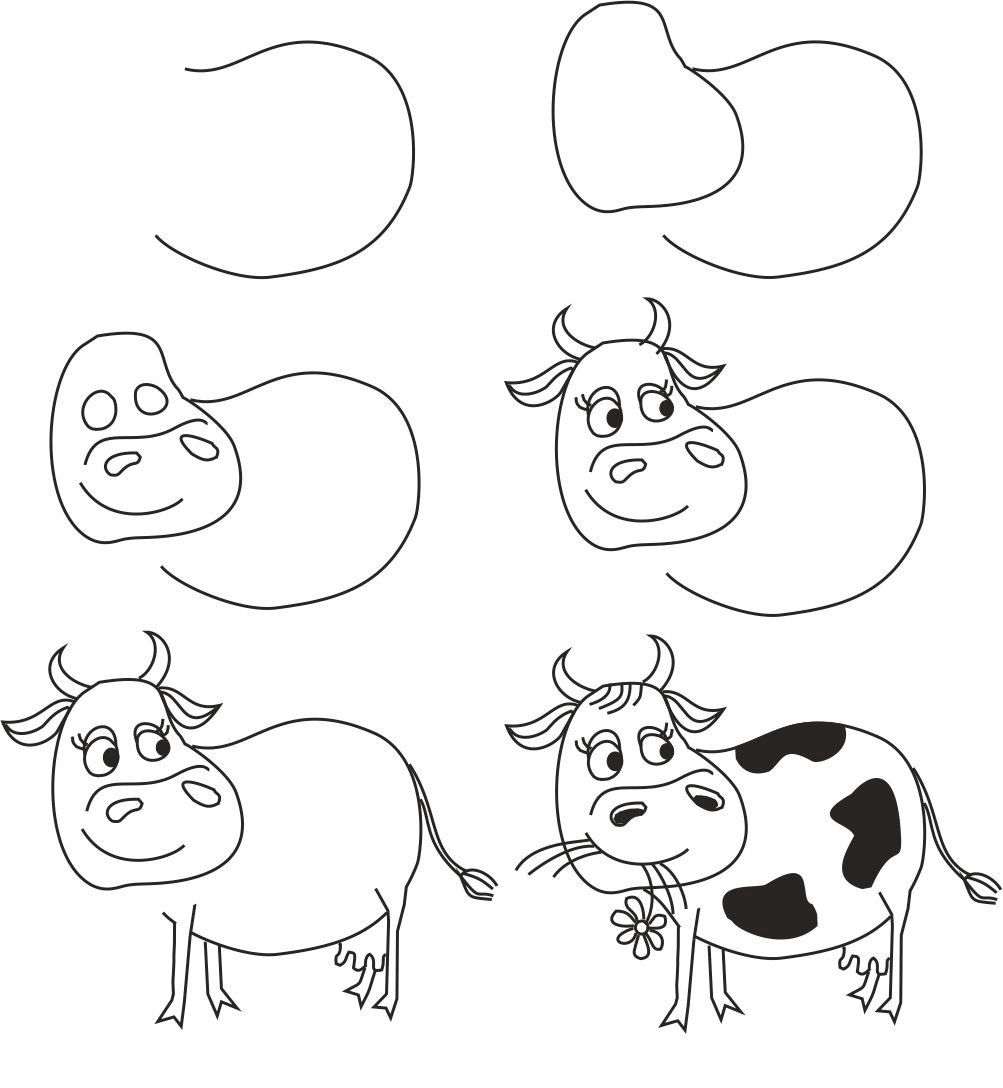 Рисование поэтапно смешные картинки