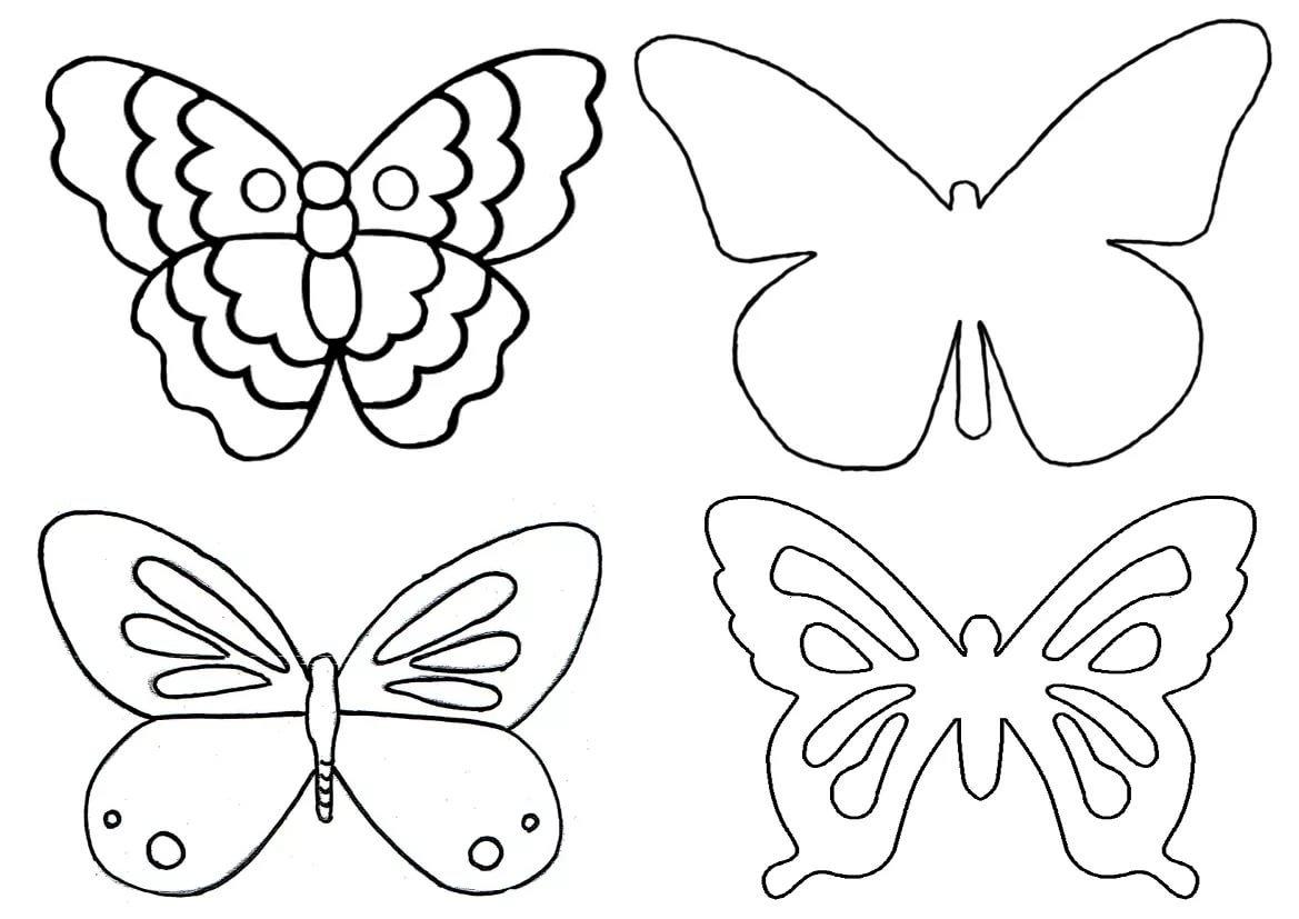 Картинки днем, шаблоны бабочки на открытку