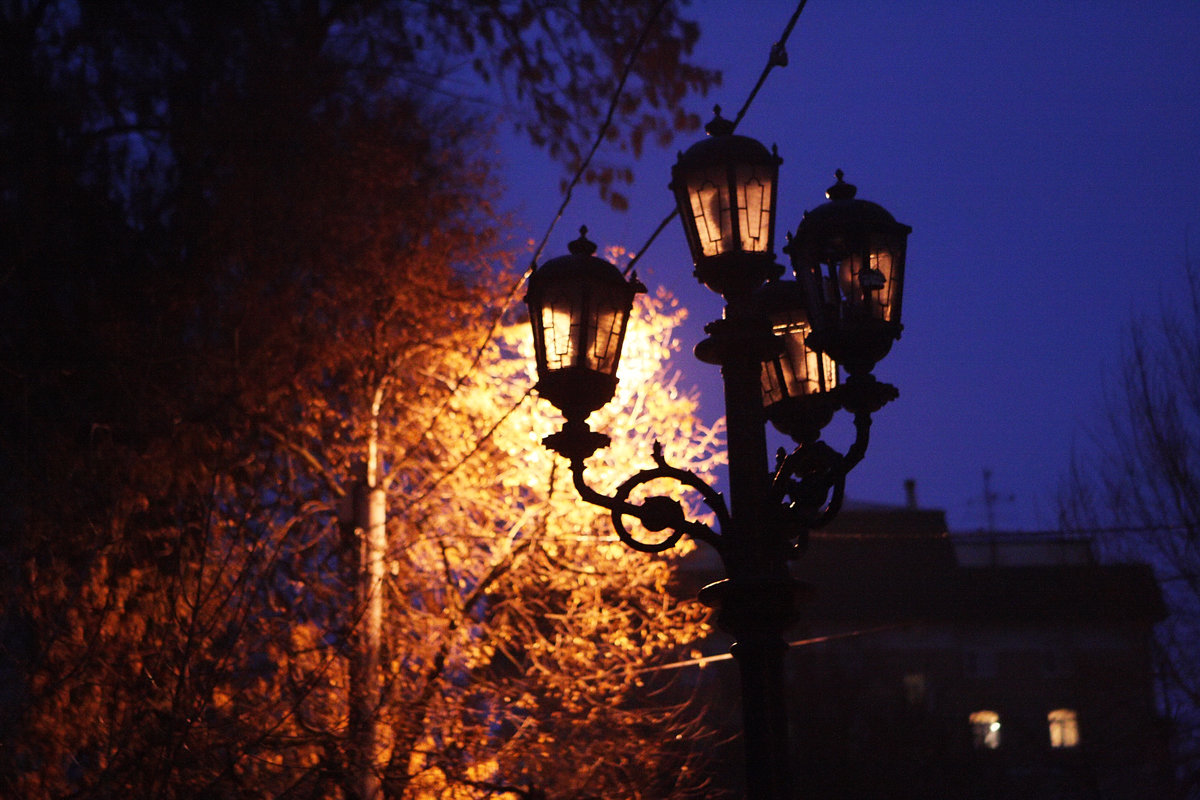картинки с фонарями вечером рисунки для засады