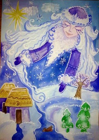 поможем рисунки в гостях у тетушки зимы замерзла