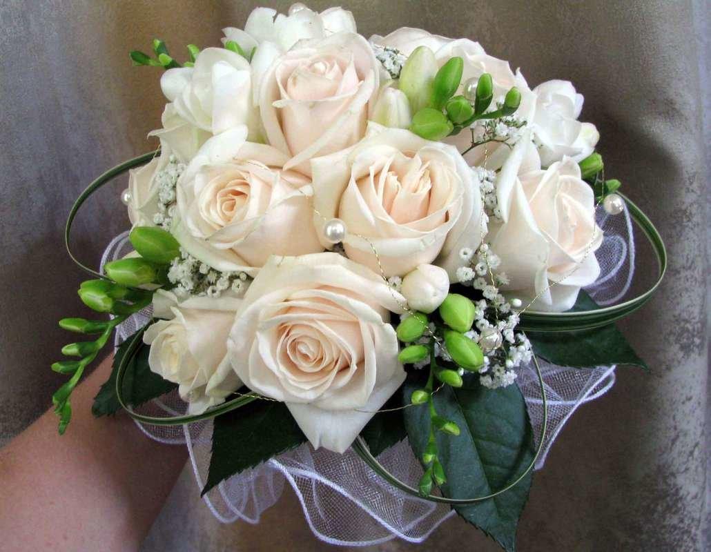Цветы ярославль свадебный букет живые