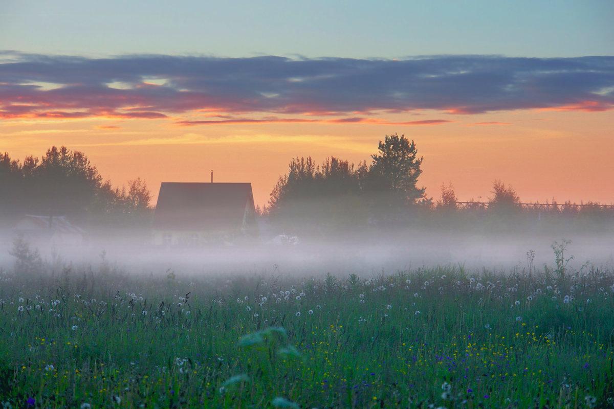 Картинки лето вечер деревня фото создают
