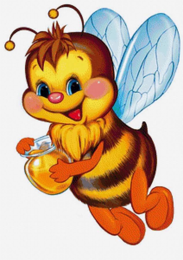 Подруге днем, красивая открытка с пчелками