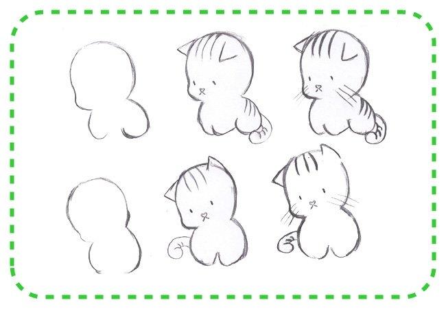 котят детей для картинки рисовать