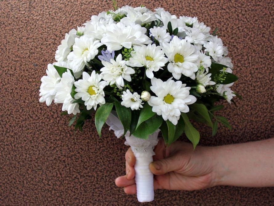 Хризантемы в букете невесты, цветов оренбурге