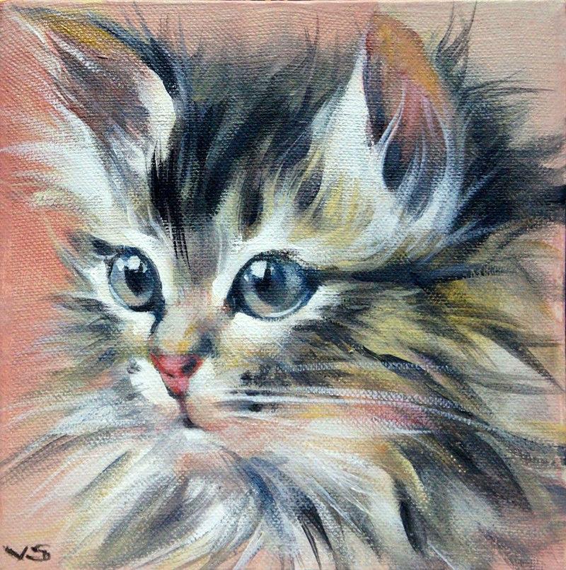 Рисунки кошки поэтапно гуашью путин вышел