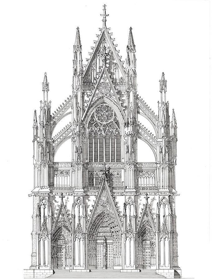 Готика рисунки архитектура