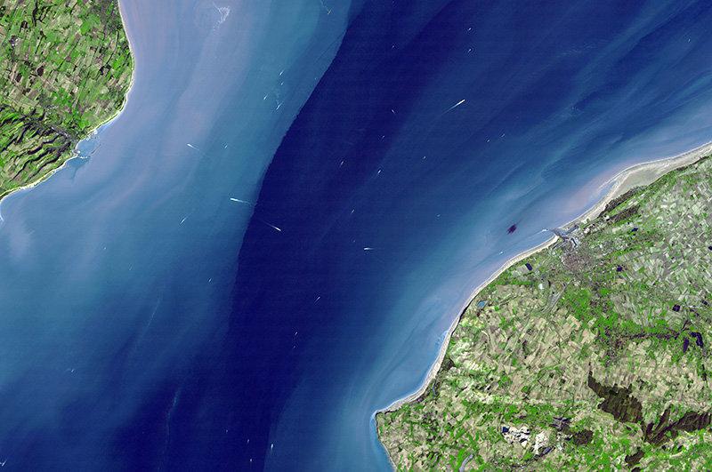 Пролив Ла-Манш. Снимок со спутника