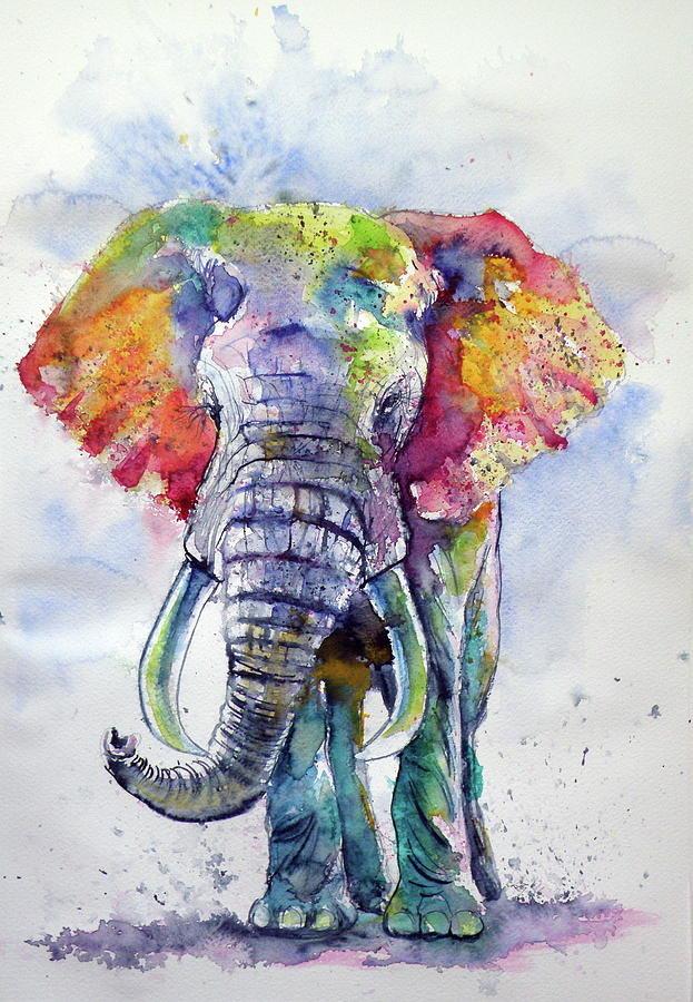 картинки с радужными слонами город огромных