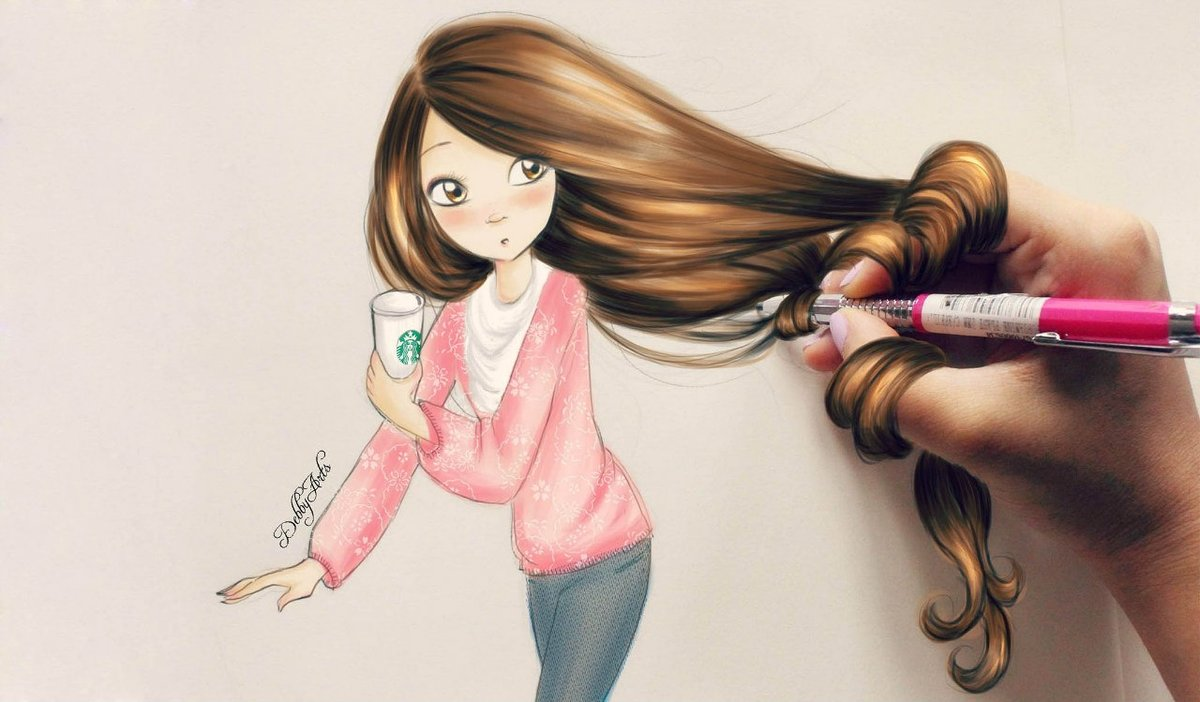 Прикольный рисунок девочки 11 лет