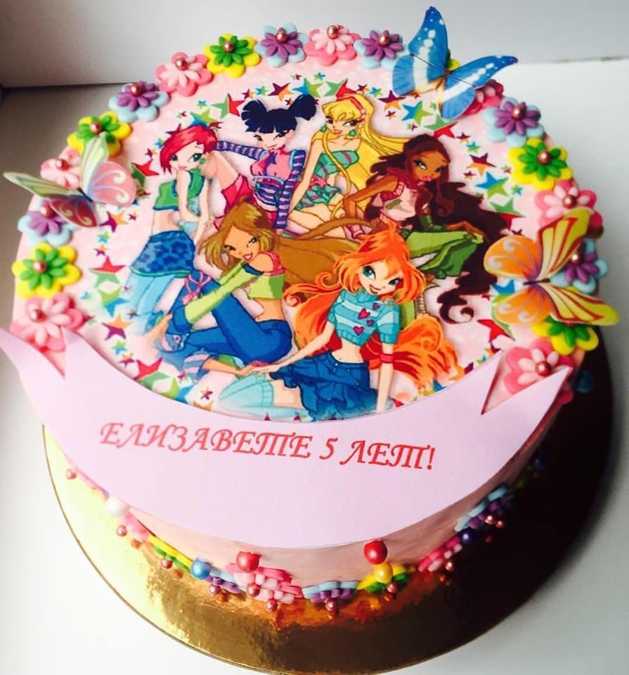 Картинка с феями винкс на торт