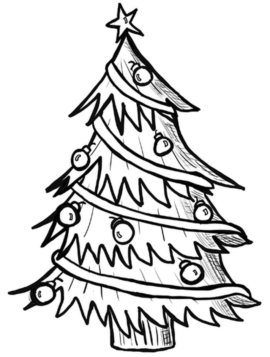 Картинки елки для срисовки на новый год
