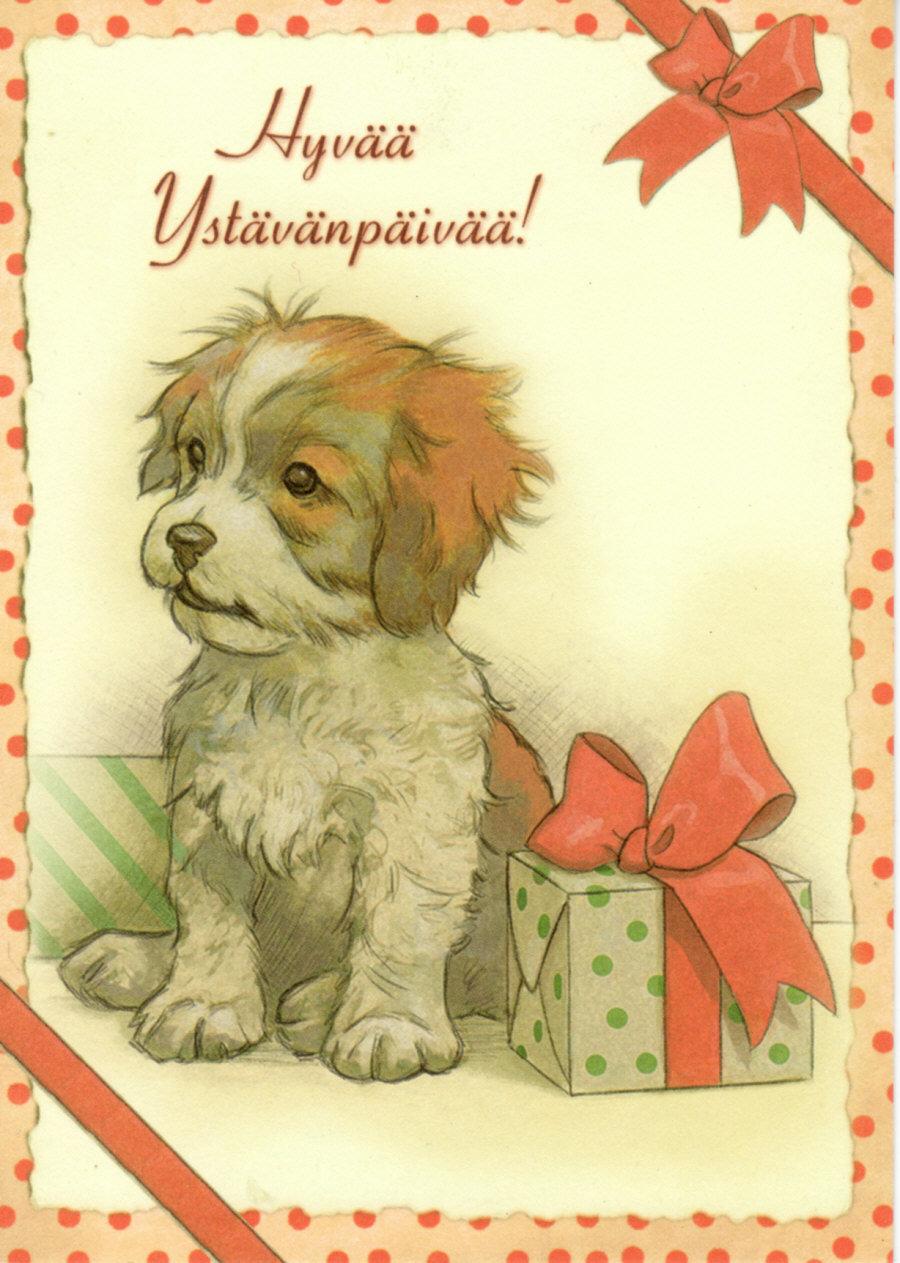 Марта, как нарисовать на открытке животного