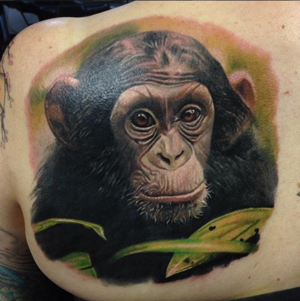 Татуировки обезьяны картинки