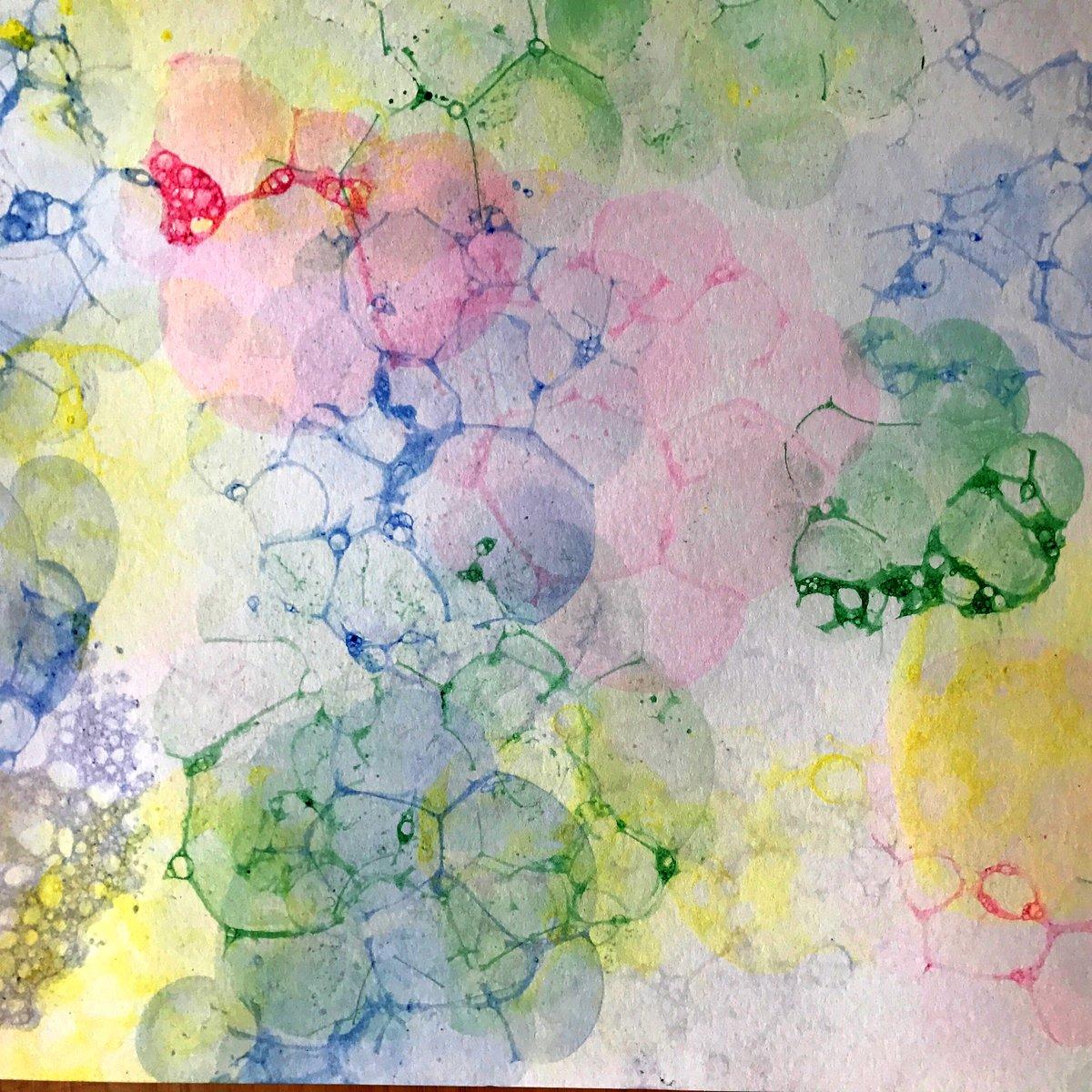 поэтапное рисование мыльными пузырями картинки хруста
