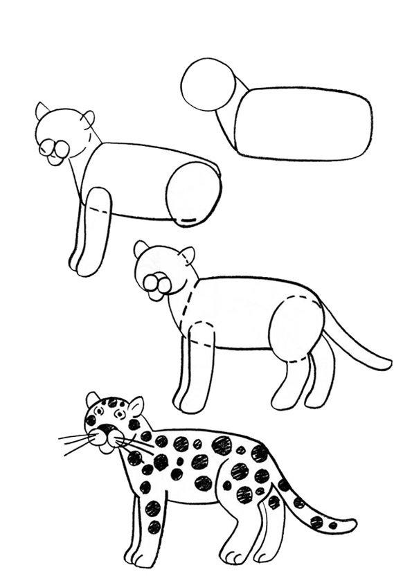 Поздравления, картинки с животными нарисованные карандашом для детей