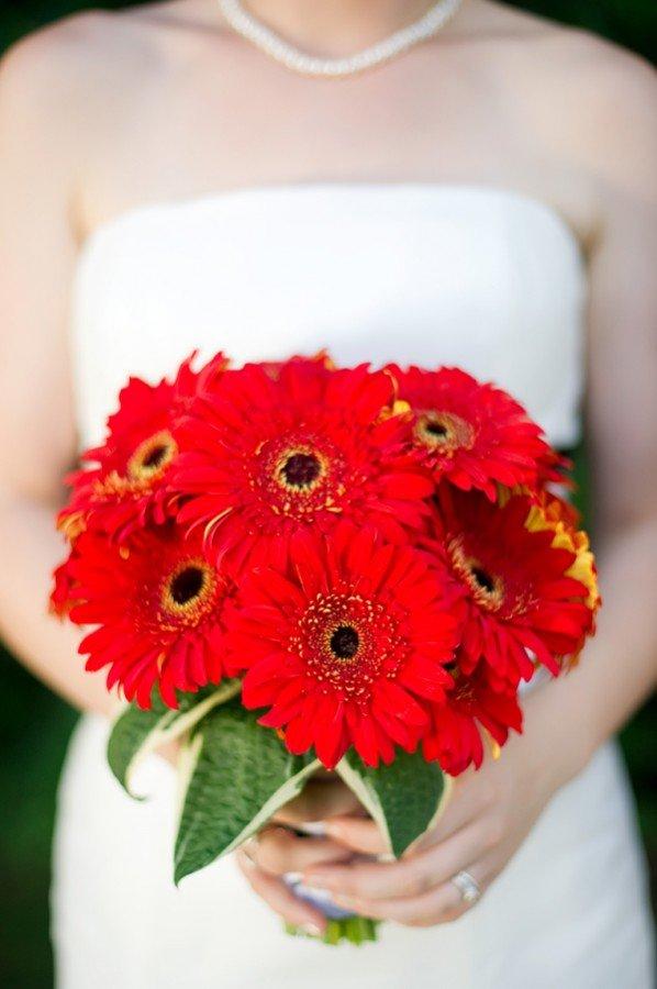 Свадебный букет из гербер в картинках
