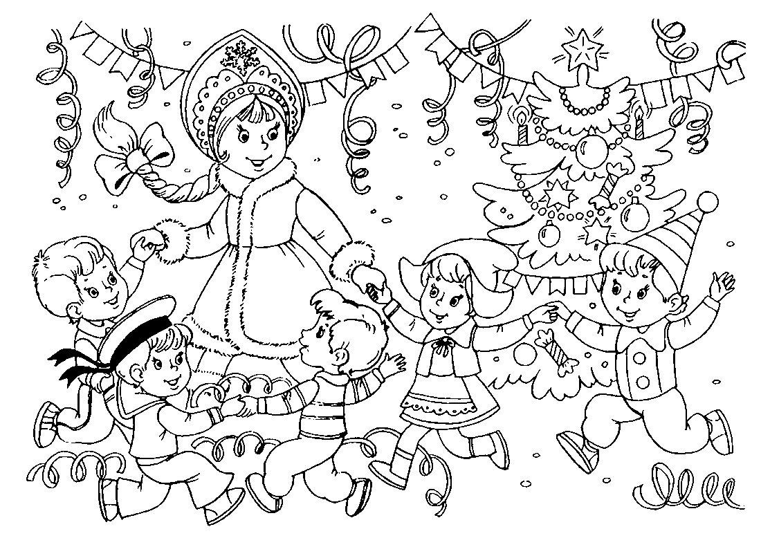 Раскраска с новым годом распечатать