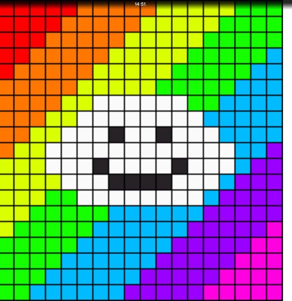 Рисуем по клеточкам разноцветные картинки