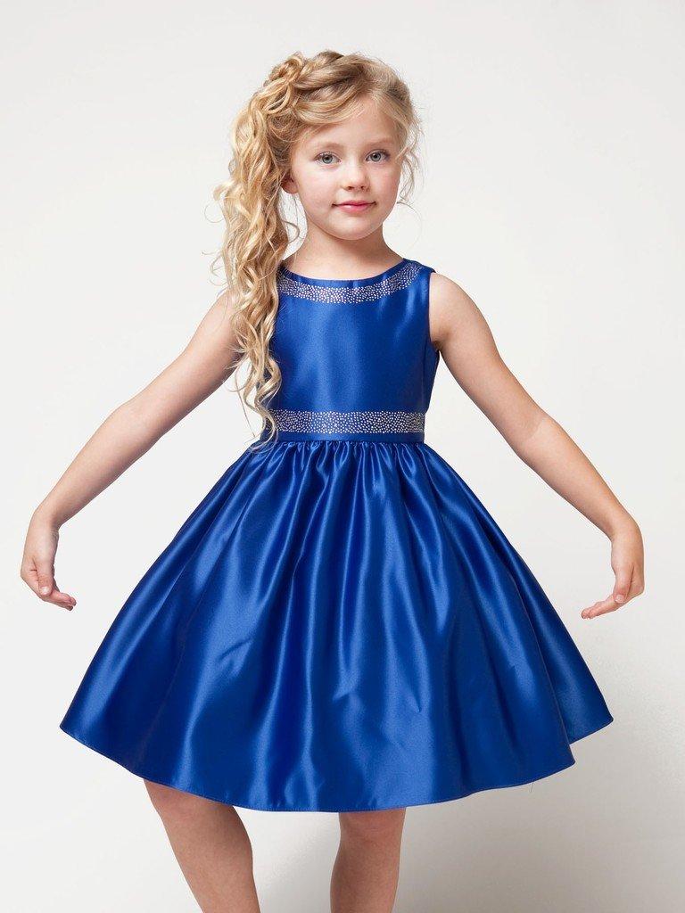 синие красивое платье для девочки