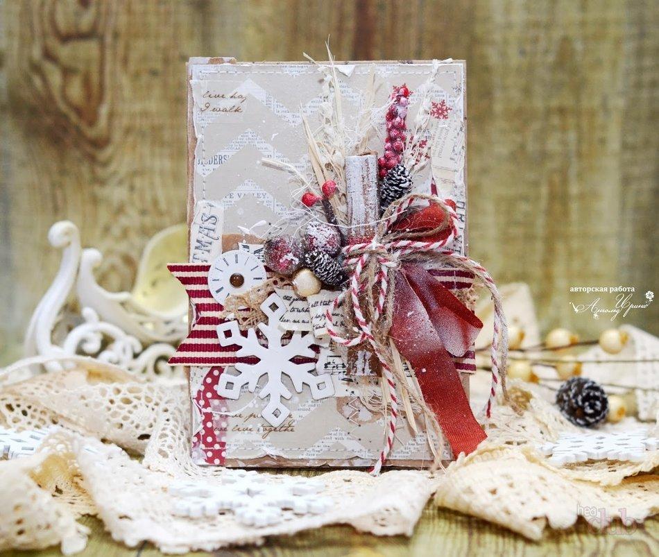 Открытка дочке, скрапбукинг открытка новый год фото