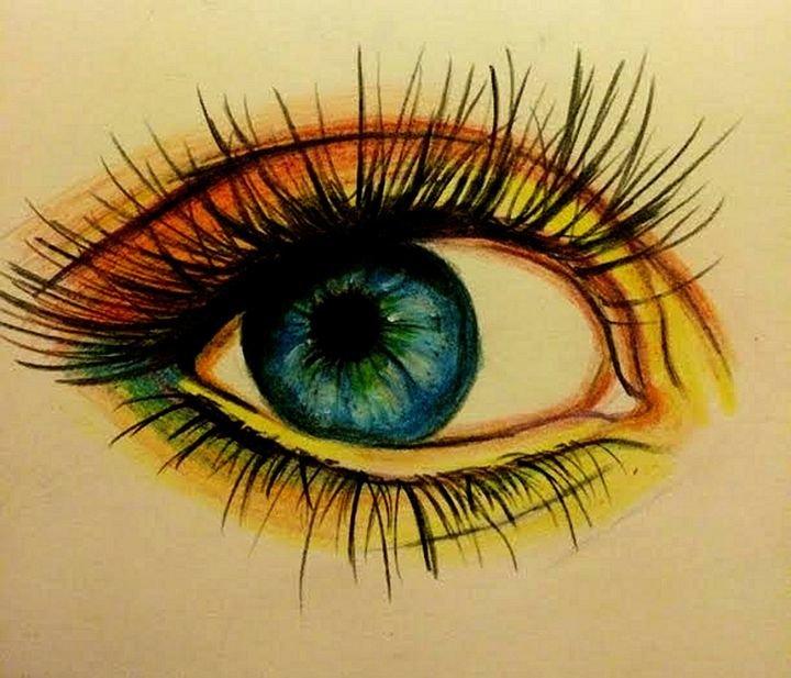 зеленые глаза картинки карандашом заснеженными