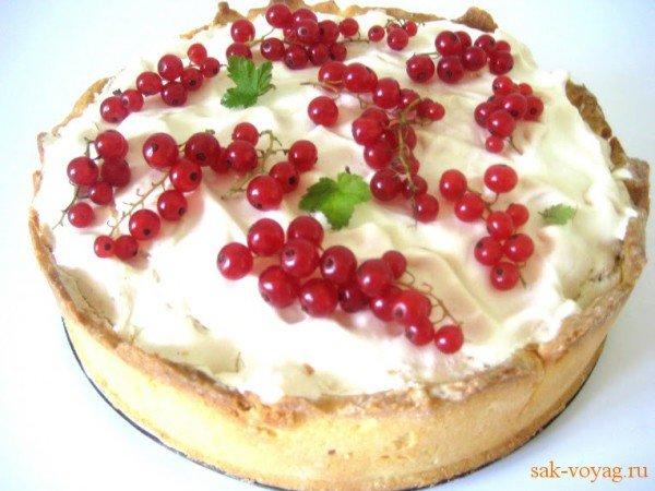 Пирог с красной смородиной пошаговый рецепт