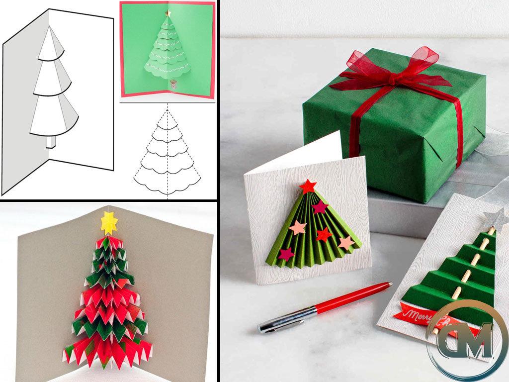 Как сделать объемную открытку на новый год своими руками из бумаги