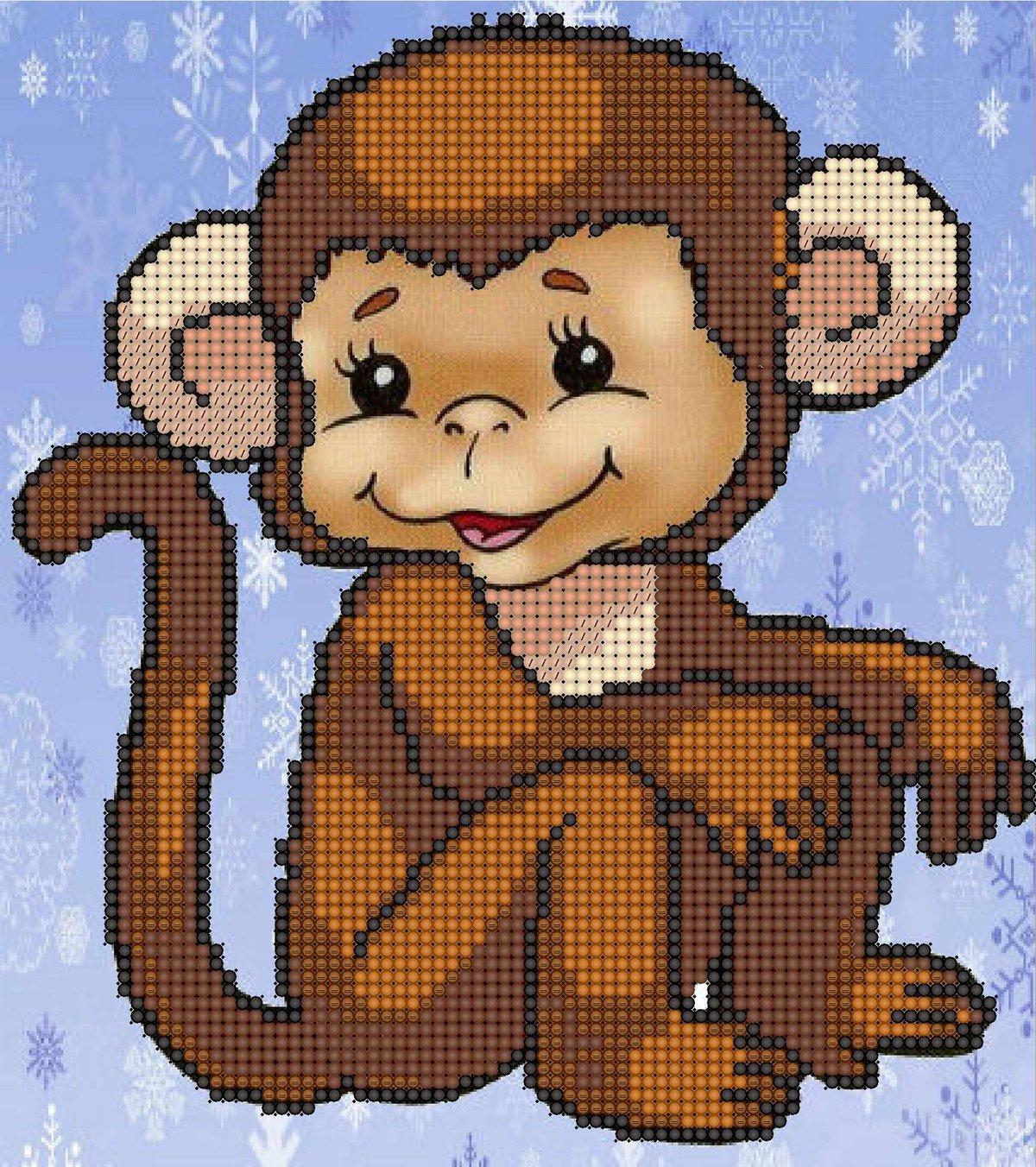 Открытки, обезьянки картинки нарисованные