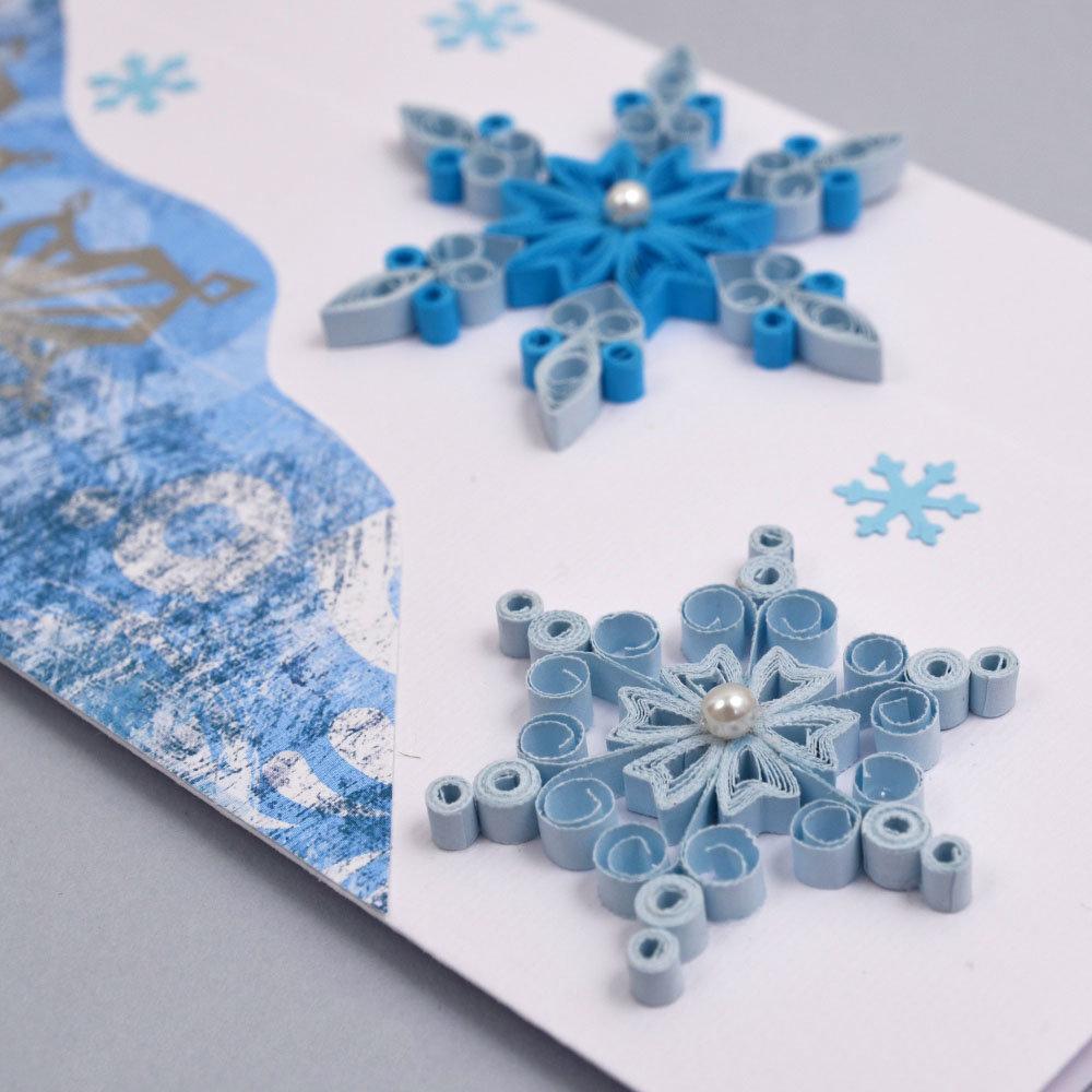 Новогодняя снежинка открытка