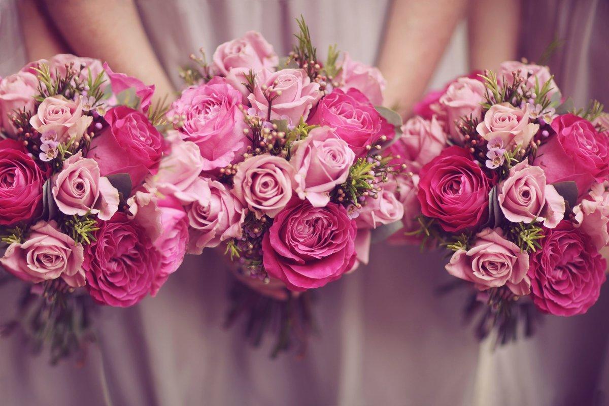 Букет, букет невесты с малиновыми розами