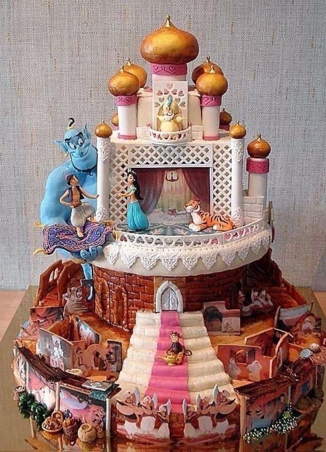 как сделать дома необычный торт фото дети выросли