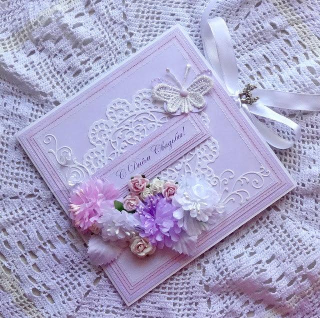 Юбилеем, поздравление с днем свадьбы открытка скрапбукинг