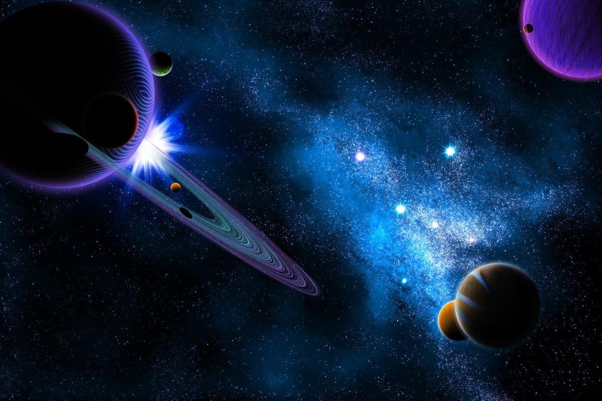Днем, картинка с космосом