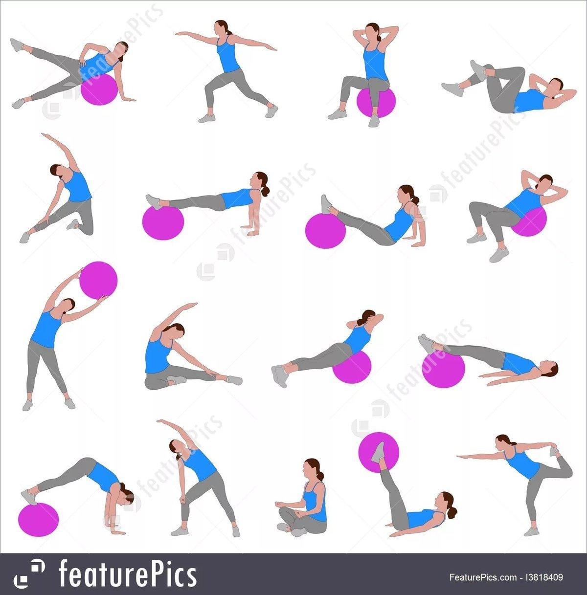 литвинова поделилась упражнения фитнеса для начинающих в картинках как