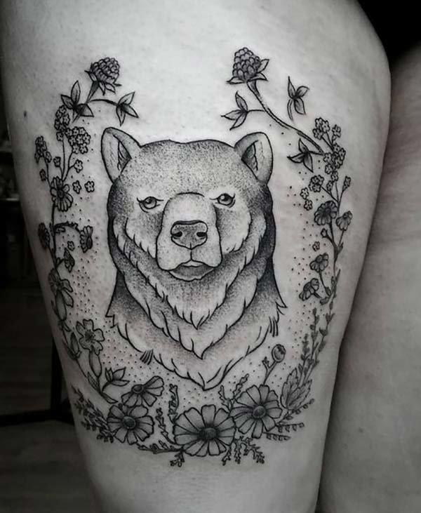 сильный картинки наколки с белым медведем салатик
