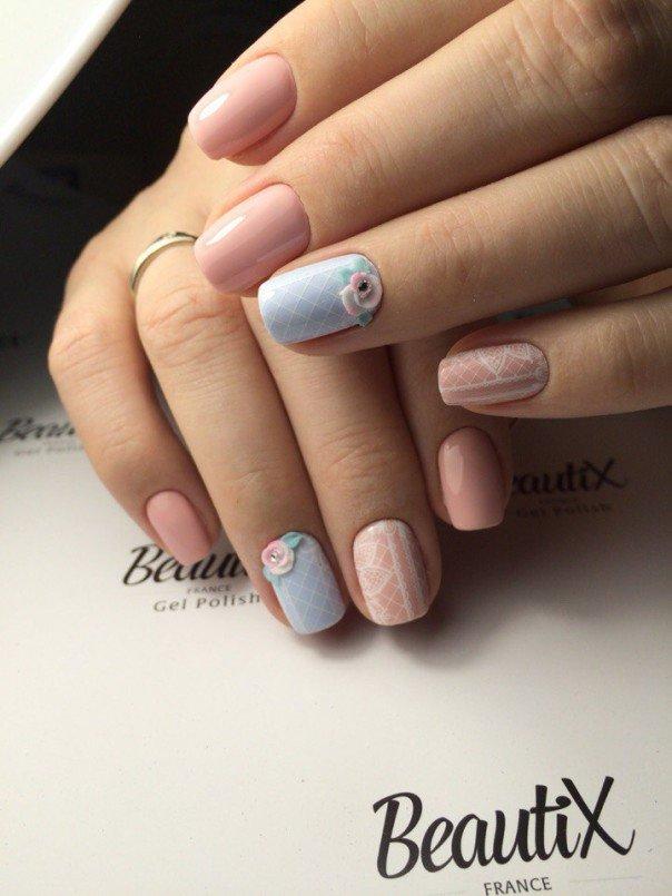 Дизайн ногтей в нежных тонах фото